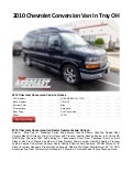 2010 Chevrolet Conversion Van In Troy OH