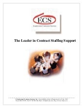 ECS - Contract Staffing Brochure