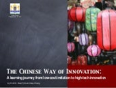 The Chinese Way of Innovation