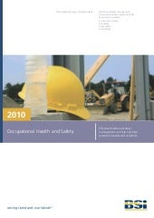 2010 Occupational Health and Safety...