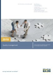 2010 Quality Management Brochure