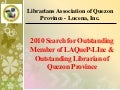2010 Search for Outstanding Librarian of Quezon Province