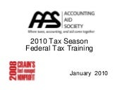 2010 Season Federal Tax Training Mo...