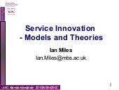 Models and Theories of Service Inno...