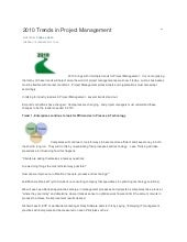2010 trends in project management