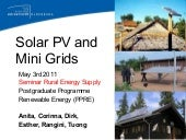 Mini grid and Solar home system