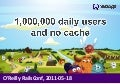1,000,000 daily users and no cache