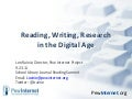 Reading, Writing, & Research in the Digital Age