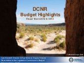 DCNR Department Budget Overview