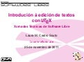 Introdución á edición de textos con LaTeX
