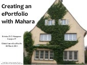 Creating an ePortfolio with Mahara