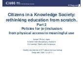 Citizens in a Knowledge Society: re...