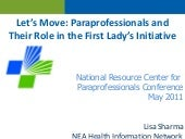Let's Move: Paraprofessionals aheir...
