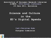 Science and Culture  in the EU's Di...