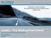 Leases- The Winding Road Ahead