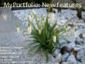 MyPortfolio: New features