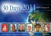 30-Days of Prayer 2011 Edition