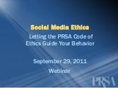 Social Media Ethics: Letting the PR...