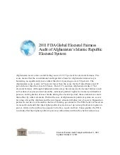 Afghanistan--2011 FDA Global Electo...