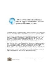 Egypt--2011 FDA Global Electoral Fa...