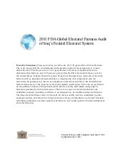 Iraq--2011 FDA Global Electoral Fai...