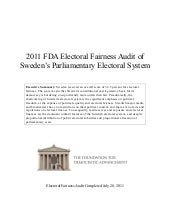Sweden--2011 FDA Global Electoral F...