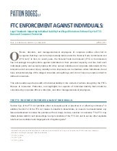 FTC Enforcement Against Individuals...