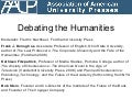 AAUP 2011: Debating the Humanities