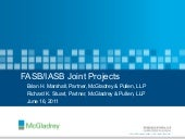FASB/IASB Joint Projects - presente...