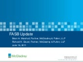 FASB Update - presented by McGladre...