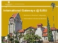 International Gateways Overview 2011