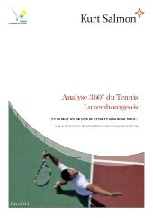 2011 study tennis business