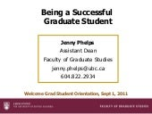 Being a successful graduate student...