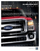 2011 Ford Super Duty Cole Story For...