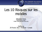 OWASP Mobile Top10 -  Les 10 risque...