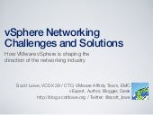 vSphere Networking Challenges and Solutions