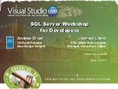 SQL Server Workshop for Developers ...