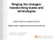 Ringing the changes: transforming t...