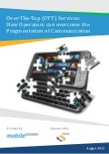 Whitepaper: Over-The-Top (OTT) Services: How Operators can overcome the Fragmentation of Communication