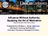 Influence without Authority: Applyi...