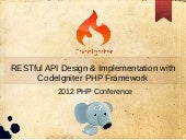 RESTful API Design & Implementation with CodeIgniter PHP Framework