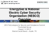 EnergySec & National Electric Cyber...
