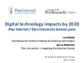 Digital technology impacts by 2020