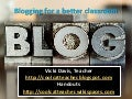 Blogging for a better classroom