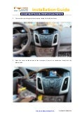 2012 ford focus dvd player gps navigation installation guide