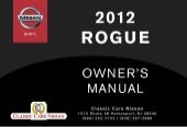 2012 ROGUE OWNER'S MANUAL
