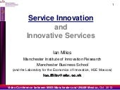 Service Innovation - an overview