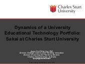 Dynamics of a University Educationa...