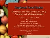 Regional Food Hubs: Challenges and ...