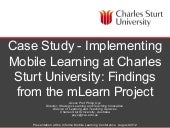 Mobile Learning at Charles Sturt Un...